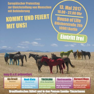 Fest der Inklusion, 13. Mai, 16:00 – 22:00 Uhr in House of Life