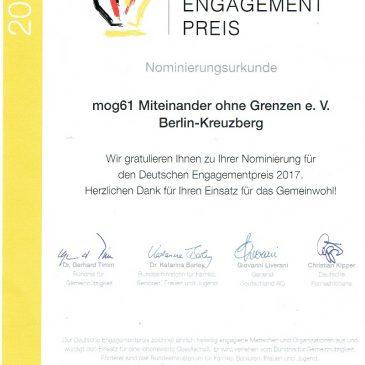 Engagierte aus Berlin und Brandenburg für Deutschen Engagementpreis nominiert
