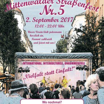 Nachbarschaft -Straßenfest:  International, interkulturell, unkommerziell und unparteiisch!