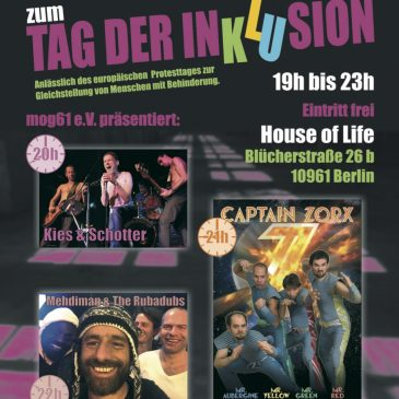 Go Ahead! Benefizkonzert am 28. April zum mog61 e.V. Tag der Inklusion